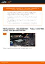Comment changer : disques de frein arrière sur VW Passat 3C B6 Variant - Guide de remplacement
