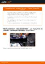 Comment changer : disques de frein avant sur VW Passat 3C B6 Variant - Guide de remplacement