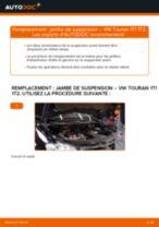 arrière + avant Amortisseurs VW TOURAN (1T1, 1T2) | PDF tutoriel de remplacement