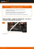 Notre guide PDF gratuit vous aidera à résoudre vos problèmes de VW Passat 3B6 1.8 T 20V Ressort d'Amortisseur