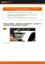 Tutoriel PDF étape par étape sur le changement de Amortisseurs sur VW GOLF III (1H1)