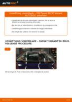 Udskift viskerblade for - VW Passat 3C B6 Variant | Brugeranvisning
