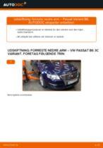Udskift forreste nedre arm - VW Passat 3C B6 Variant | Brugeranvisning