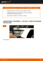 Hvorfor og hvordan skifte af Ophængning manuel gearkasse VW GOLF III (1H1): vejledning pdf