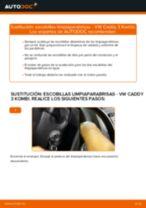 Cambiar Escobillas de Limpiaparabrisas VW CADDY: manual de taller