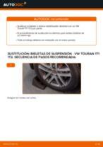 Cómo cambiar y ajustar Bieleta de barra estabilizadora VW TOURAN: tutorial pdf