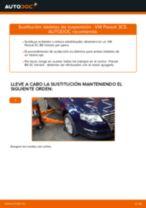 Cómo cambiar y ajustar Bieleta de barra estabilizadora VW PASSAT: tutorial pdf