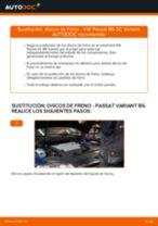Cómo cambiar: discos de freno de la parte trasera - VW Passat 3C B6 Variant   Guía de sustitución