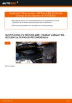 Instalación Filtro de aire motor VW PASSAT Variant (3C5) - tutorial paso a paso