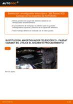 Cómo cambiar: amortiguador telescópico de la parte delantera - VW Passat 3C B6 Variant   Guía de sustitución