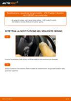 Come cambiare è regolare Spazzola tergi VW CADDY: pdf tutorial