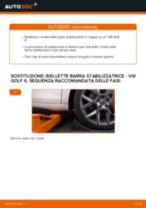 Come cambiare biellette barra stabilizzatrice della parte anteriore su VW Golf 6 - Guida alla sostituzione