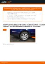 Come cambiare biellette barra stabilizzatrice della parte posteriore su VW Passat 3C B6 Variant - Guida alla sostituzione