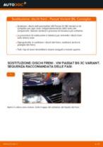 Come cambiare dischi freno della parte anteriore su VW Passat 3C B6 Variant - Guida alla sostituzione