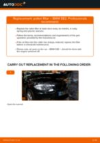 How to change pollen filter on BMW E82 – replacement guide