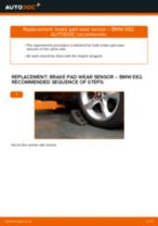 How to change front brake pad wear sensor on BMW E82 – replacement guide