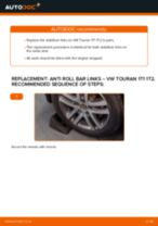 How to change rear anti roll bar links on VW Touran 1T1 1T2 – replacement guide