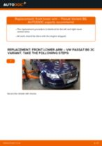 Fitting Stabilizer bushes VW PASSAT Variant (3C5) - step-by-step tutorial