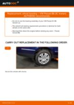 How to replace and adjust Deflection / Guide Pulley, timing belt VW PASSAT: pdf tutorial