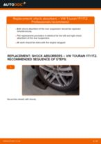 How to change rear shock absorbers on VW Touran 1T1 1T2 – replacement guide