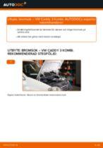 Byta bromsok bak på VW Caddy 3 Kombi – utbytesguide