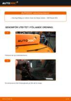 Byta torkarblad bak på VW Passat 3C B6 Variant – utbytesguide