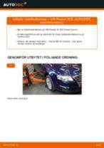 Hur byter man Stabstag bak höger VW PASSAT Variant (3C5) - handbok online