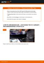 Byta bromsskivor fram på VW Passat 3C B6 Variant – utbytesguide