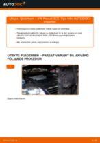 Byta fjäderben fram på VW Passat 3C B6 Variant – utbytesguide