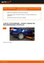Byta stötdämpare bak på VW Passat 3C B6 Variant – utbytesguide