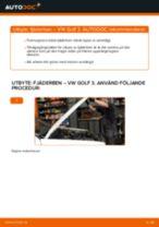 Bilmekanikers rekommendationer om att byta VW Golf 5 1.6 Stötdämpare