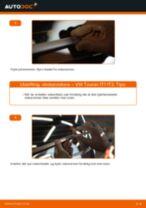 Hvordan bytte Viskerblader bak og foran VW TOURAN (1T1, 1T2) - guide online