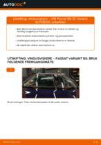 Slik bytter du vindusviskere fremme på en VW Passat 3C B6 Variant – veiledning
