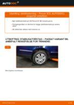 Slik bytter du stabilisatorstag bak på en VW Passat 3C B6 Variant – veiledning