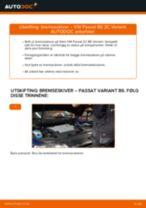 Slik bytter du bremseskiver bak på en VW Passat 3C B6 Variant – veiledning