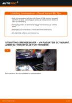 Skifte Bremsetrommel VW PASSAT: verkstedhåndbok