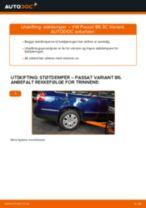 Slik bytter du støtdemper bak på en VW Passat 3C B6 Variant – veiledning