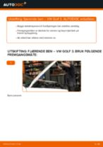 DIY-manual for utskifting av Støtdemper i VW GOLF 2020