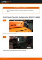 Kuinka vaihtaa pyyhkijänsulat taakse VW Passat 3C B6 Variant-autoon – vaihto-ohje