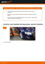 Kuinka vaihtaa koiranluu eteen VW Passat 3C B6 Variant-autoon – vaihto-ohje