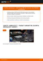 Kuinka vaihtaa jarrulevyt taakse VW Passat 3C B6 Variant-autoon – vaihto-ohje