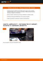 Kuinka vaihtaa jarrulevyt eteen VW Passat 3C B6 Variant-autoon – vaihto-ohje