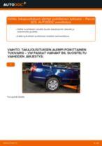 Kuinka vaihtaa takajousituksen alempi poikittainen tukivarsi VW Passat 3C B6 Variant-autoon – vaihto-ohje