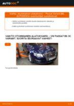 Kuinka vaihtaa etummainen alatukivarsi VW Passat 3C B6 Variant-autoon – vaihto-ohje