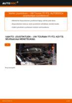 Kuinka vaihtaa joustintuki eteen VW Touran 1T1 1T2-autoon – vaihto-ohje