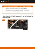 Kuinka vaihtaa joustintuki eteen VW Golf 3-autoon – vaihto-ohje