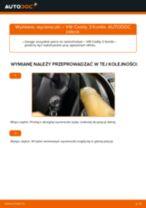 Jak wymienić i wyregulować Pióra wycieraczek VW CADDY: poradnik pdf