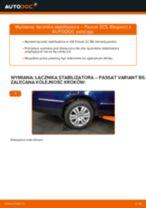 Jak wymienić i wyregulować Drążek wspornik stabilizator VW PASSAT: poradnik pdf