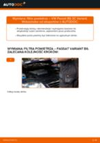 Jak wymienić filtr powietrza w VW Passat 3C B6 Variant - poradnik naprawy