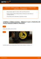 Montáž Lozisko kolesa RENAULT CLIO III (BR0/1, CR0/1) - krok za krokom príručky